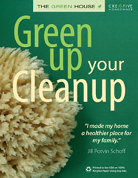 Green Cleaning: Green Up Your Cleanup by Jill Potvin Schoff, Healthy Home & Green Living Books & Videos - HealthyHouseInstitute.com
