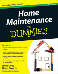 Maintenance: Home Maintenance for Dummies (2nd Edition) by James Carey and Morris Carey Jr., Healthy Home & Green Living Books & Videos - HealthyHouseInstitute.com